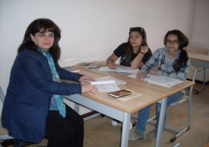Gayane Shmavonyan (English teacher), Lilit (right) and Varsenik (left)