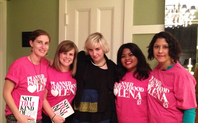 Planned Parenthood is Teamed with Lena Dunham on the Not That Kind of Girl book tour.