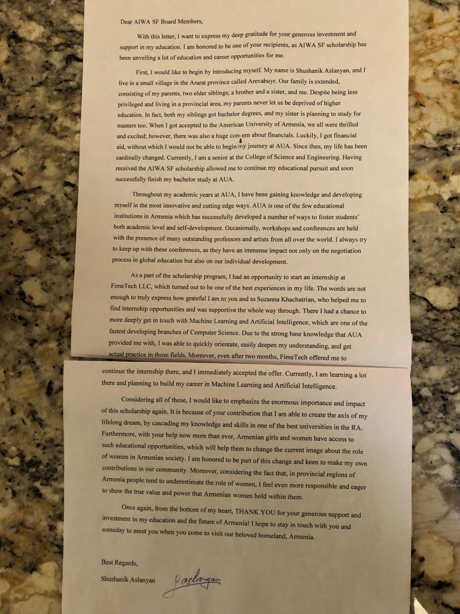 Shushanik Letter